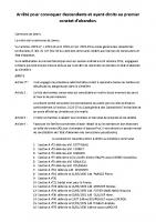 Arrêté de convocation pour 1er constat d'abandon 10 oct 2016