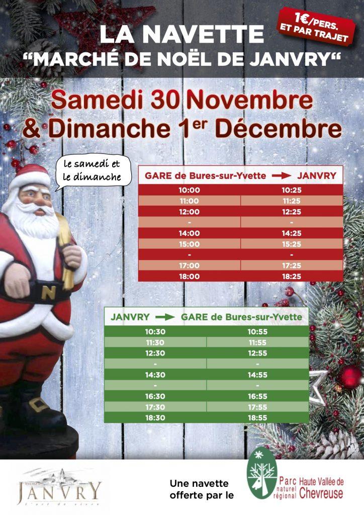 Navette Marché de Noël Janvry 2019