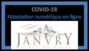 Attestation numérique COVID-19 Janvry
